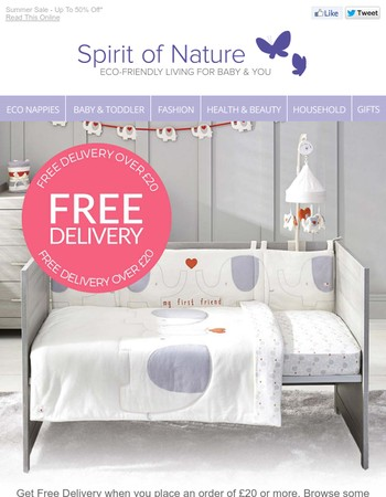 Free Delivery On Orders of £20 or more*