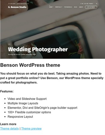 Brand new theme is now available - Meet Benson