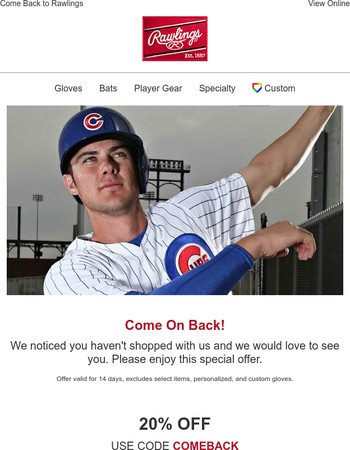 Come Back to Rawlings | Coupon Inside