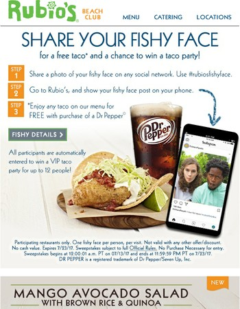 Pucker up for a free taco!