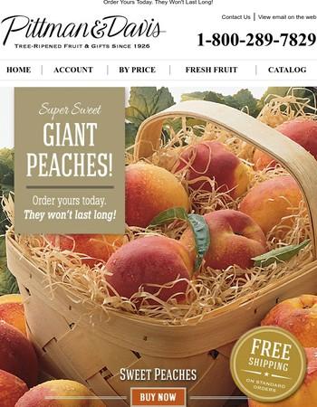 Super Sweet Giant Peaches!