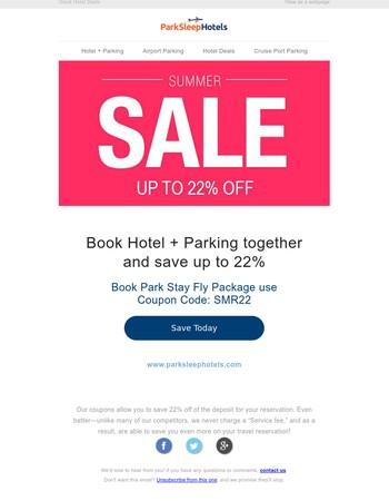 ✅ Airport Hotels and Parking Summer Deals
