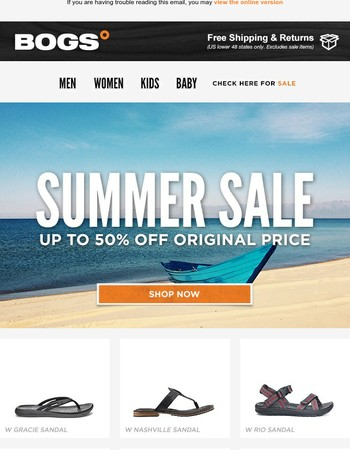 BOGS° Summer Sale - Don't Forget!