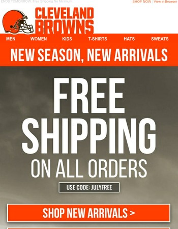 Look Official w/ Browns New Arrivals!