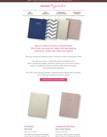 Get Organized for Back to School -- Pre-Order Now