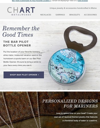 Unforgettable Bottle Openers + Nautical Jewelry + See You at the Clam Fest