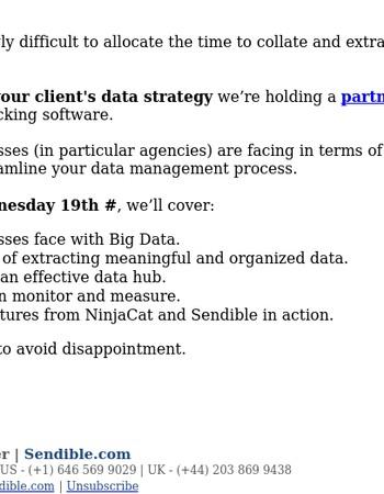 Webinar: How to Decipher Big Data to Enhance Social Media Performance