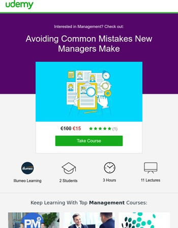 """Learn from an expert with """"Avoiding Common Mistakes New Managers Make""""—only €15!"""