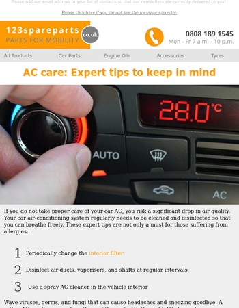 Air conditioning maintenance for your car