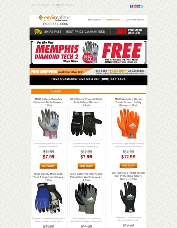 Great Safety Products This Week! Get A Free MCR Glove If You Spend $100 Or More! Coupon Code Inside!