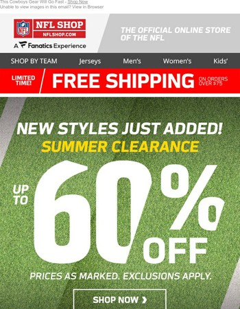 Cowboys New Styles Just Reduced >> up to 60% OFF Clearance!