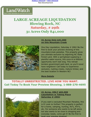 31 Acres Only $41,000 Blowing Rock