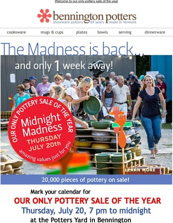 Get ready for the Madness - only 1 week away!