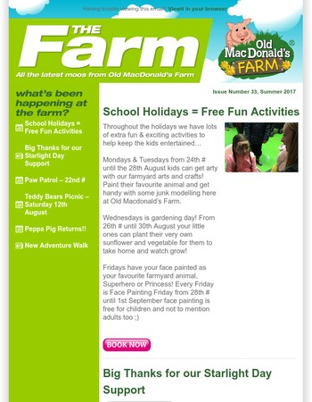 Old MacDonald's Farm Newsletter Issue 33 - Summer 2017