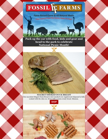 Fill your picnic baskets with naturally raised meats!