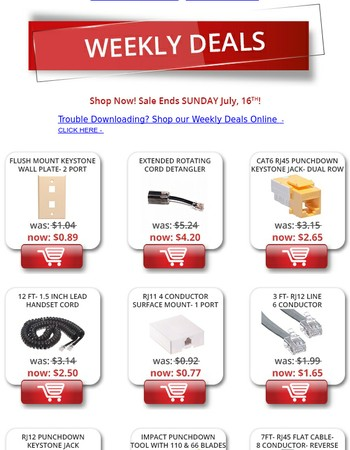 SHOP THIS WEEK'S DEALS! DETANGLERS, KEYSTONE JACKS, AND MORE!