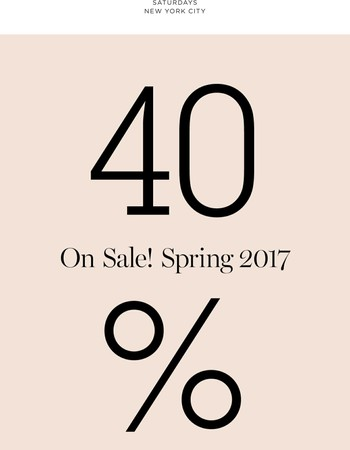 Sale: 40% Off Spring '17 + New Styles Added