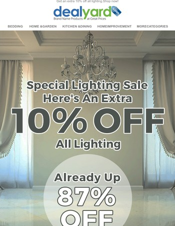 Get New Lights & Save An Extra 10%