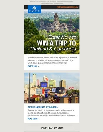 Win a Wild Trip to Thailand & Cambodia!