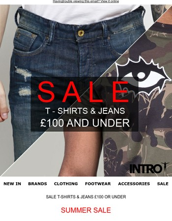 SALE T-SHIRTS & JEANS £100 OR UNDER