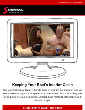 Clean-N-Simple Boating Tips from Shurhold