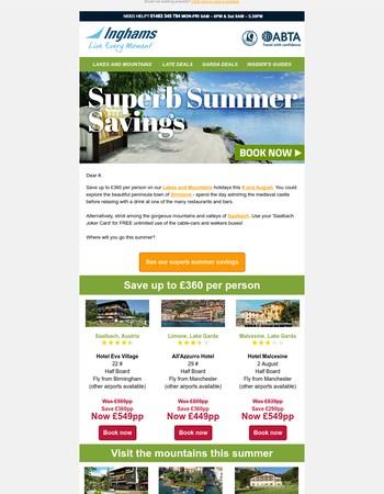 Superb summer savings   Inghams