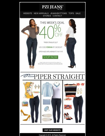 Weekly Deal - 40% Off - Piper Straight - Shop Now!!