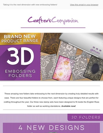 Make the best impression with NEW 3D embossing folders!