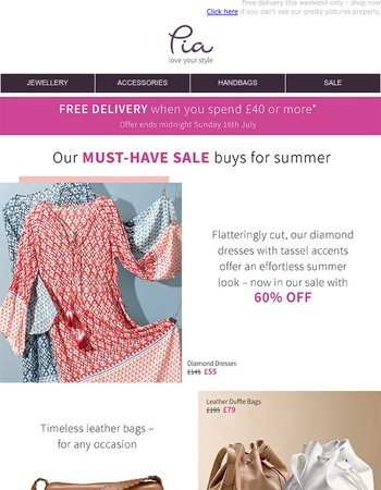 Free delivery on summer essentials