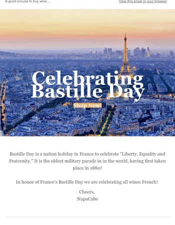 Bastille Day & Tour de France with French Wine!