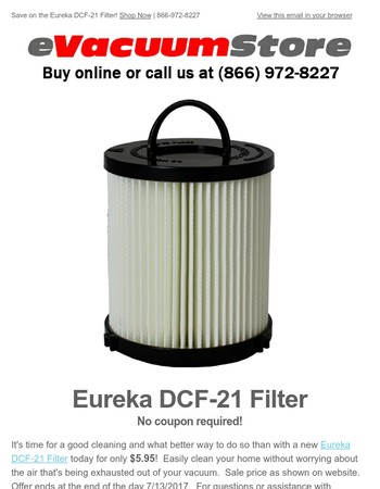 Eureka DCF-21 Filter Deal of the Day!