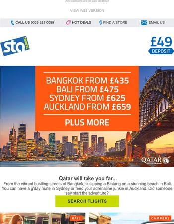 Qatar flight sale   Bali from £475 plus more...