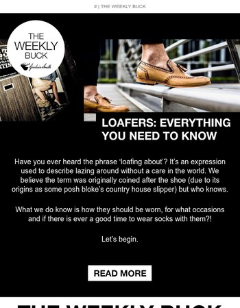 LOAFERS: EVERYTHING YOU NEED TO KNOW | THE WEEKLY BUCK