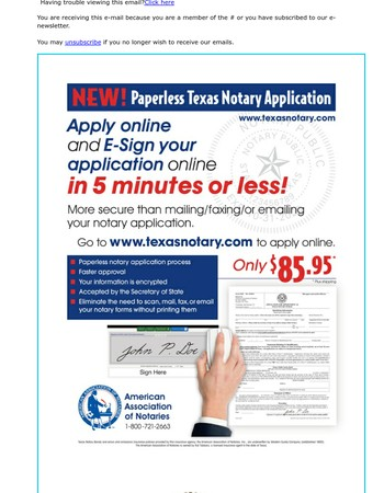 New! Paperless Texas Notary Application