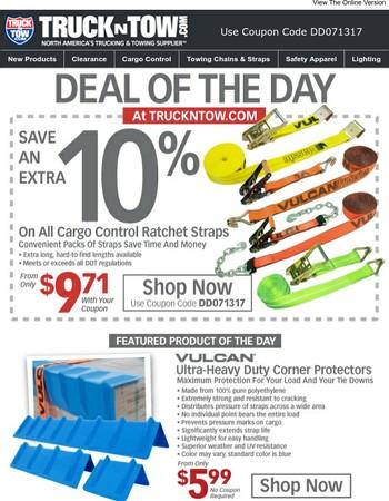 Ratchet Strap Sale - Save An Extra 10%