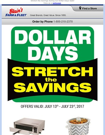 Dollar Days are Back and the Deals are Hotter than Ever!