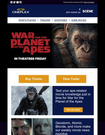 Get War for the Planet of the Apes Tickets Now!