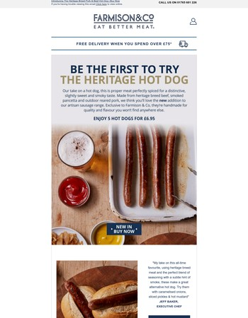 New In: Introducing The Heritage Hot Dog