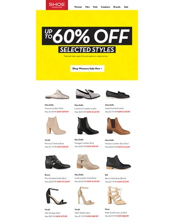 Top Picks: 20 – 60% Off Selected Styles Continues