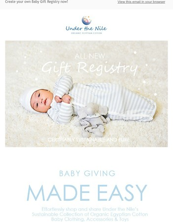 Introducing our New Baby Gift Registry