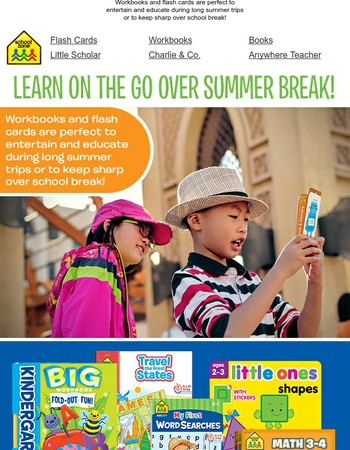Learn On the Go Over Summer Break!