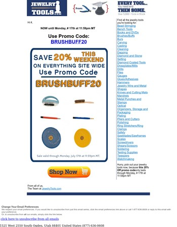 Save 20% NOW on Brushes and Buffs