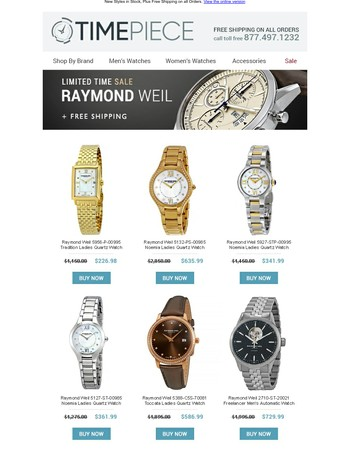 SALE: Up to 75% off Raymond Weil Watches