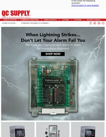 When Lightening Strikes... Don't Let Your Alarm Fail You