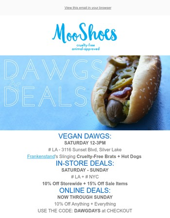 MooShoes Newsletter