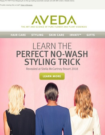FREE Shipping & On-The-Go Styling Set (Plus, No-Wash Styling Tricks)