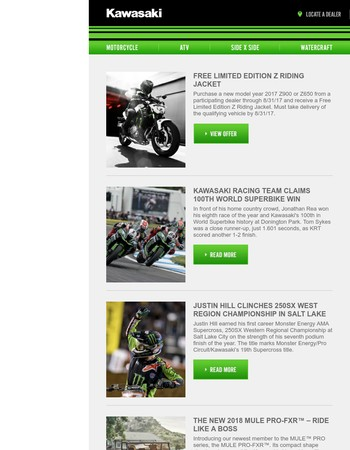 Upgrade your summer with Kawasaki
