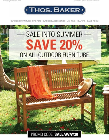 Sale into Summer with Savings