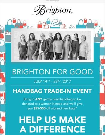 It's Handbag Trade-In Time