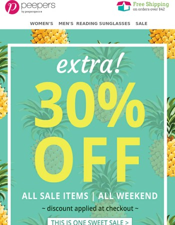 Extra 30% Off All Sale Items | All Weekend